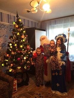 Дед мороз и снегурочка на дом, корпоратив в Василькове