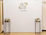 Фотозона на свадьбу,колонны в Житомире, дизайн, фото, пресс волл